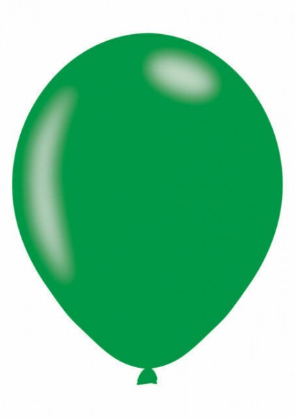 10 latex balloons metallic green 27cm