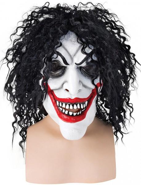 Grijnzend Griezelig Clown Horror Masker Met Haar