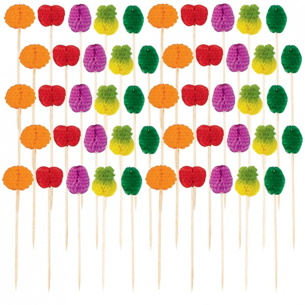50 Tropical Fruit Party Skewers Tutti Frutti