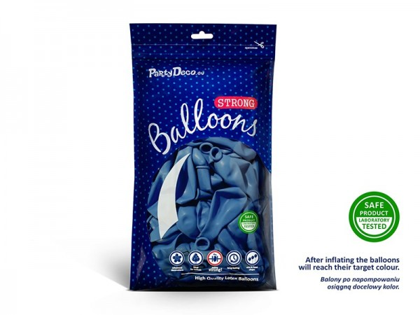 10 party star balloons royal blue 27cm