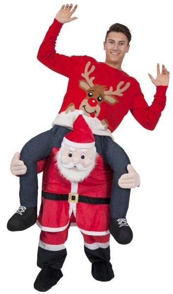 Gek Santa-piggyback-kostuum