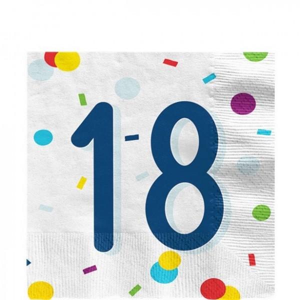 20 tovaglioli di coriandoli per feste 18 ° compleanno