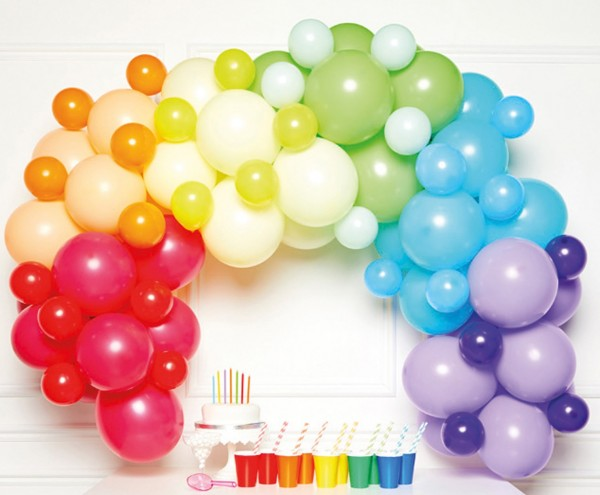 Rainbow Cloud Ballongirlande