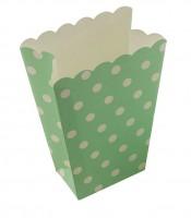 Punkte Spaß Grüne Popcorn Snacktüte 8er Set