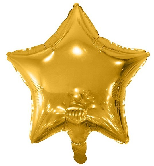 Folieballon Shiny Star goud 48cm