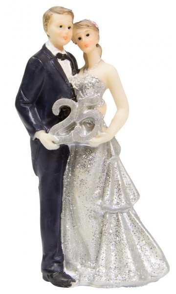 Décoration figure rêve couple argent mariage
