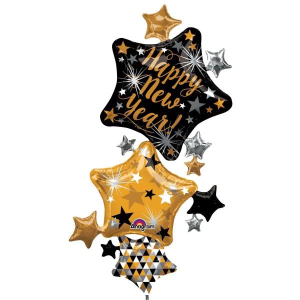 Ballon de douche étoile du Nouvel An 93cm x 1,7m
