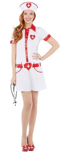 Herzige Krankenschwester Carmen Kleid Mit Haube