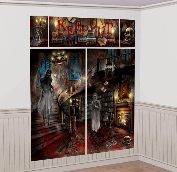 Toile de fond murale d'intérieur Terrifying Ghost Villa XXL
