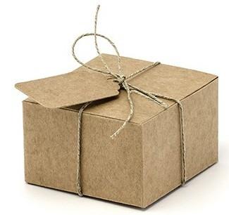 10 cajas de papel kraft de 6 x 5,5 cm