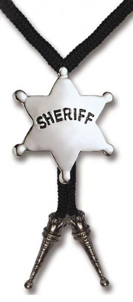 Sheriffstern Krawatte Für Cowboykostüm