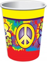 8 Peace Love Party Pappbecher 266ml