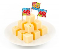 24 Groovy 40th Birthday Spieße 6cm