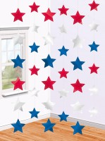 USA Star Hänge Dekoration 210cm