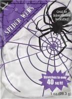 Dehnbares Spinnennetz Halloween weiß 3,7m²