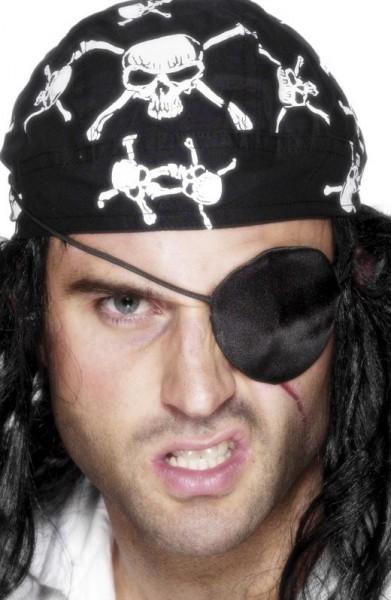 Schwarze Satin Augenklappe Für Piratenkostüme