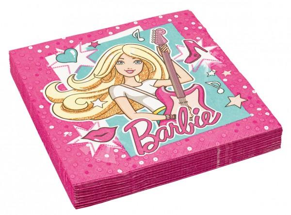 Superstar Barbie Mit Gitarre Serviette 20 Stück