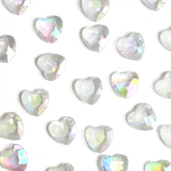 Décor à saupoudrer de cœurs de diamants en nacre 28g