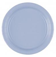 20 Papp-Teller Pastellblau 17,7cm