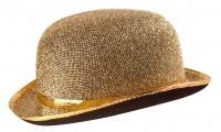 Melonen-Filzhut Mit Lurexband Gold