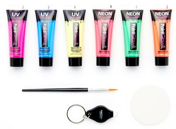 UV Neon Schminkset für Gesicht und Körper