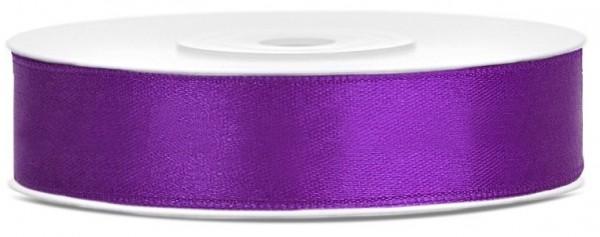 25m Satin Geschenkband lila 12mm breit