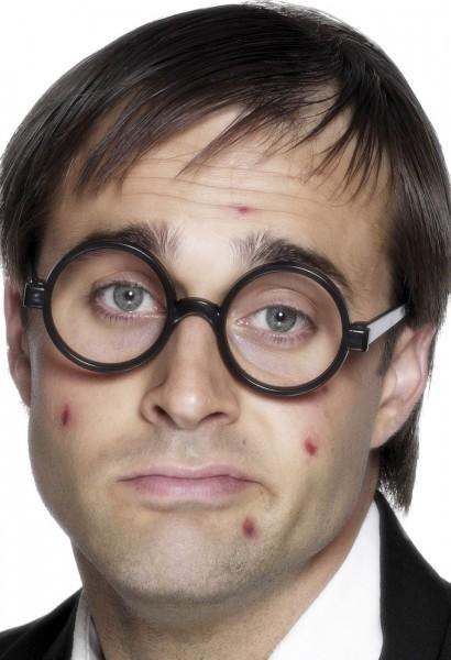 Schwarze Nerd Brille Larry