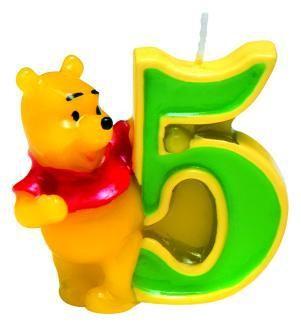Winnie Puuh Happy Birthday Kerze 5. Geburtstag