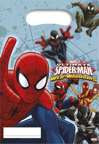 6 Spiderman Web Warriors Geschenktüten