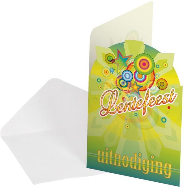 8 Einladungskarten Frühlingsfest