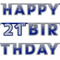 Majestic 21st Birthday Girlande