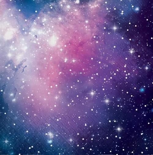16 Galactic Birthday Servietten 33cm