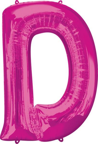 Globo de lámina letra D rosa XL 83cm