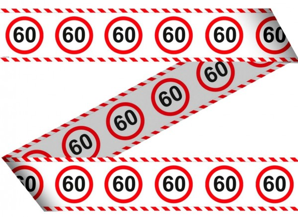 Verkehrsschild 60 Absperrband 15m