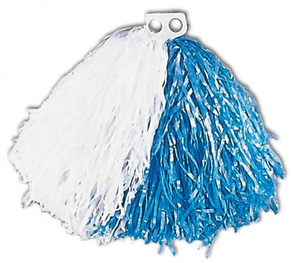 Cheerleader Pompon Weiß-Blau
