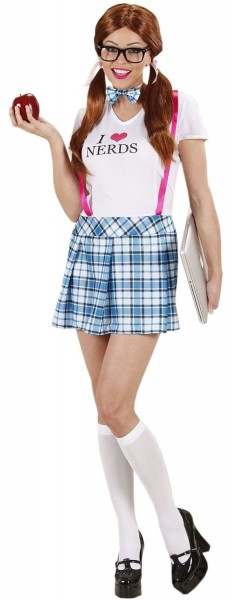 College Girl Nerd I Love Nerds Costume