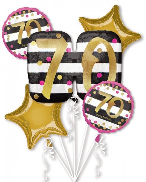 5-teiliges Ballonset 70.Geburtstag