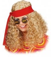 Blonde Hippieperücke Mit Band Für Damen