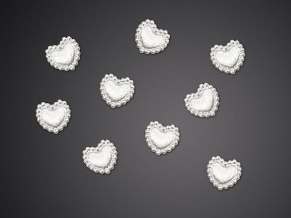 Confetti hearts with pearl border Anny