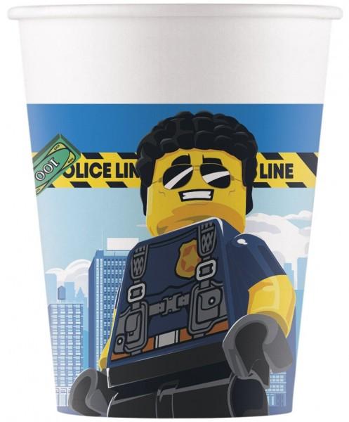 8 Lego City FSC Pappbecher 200ml