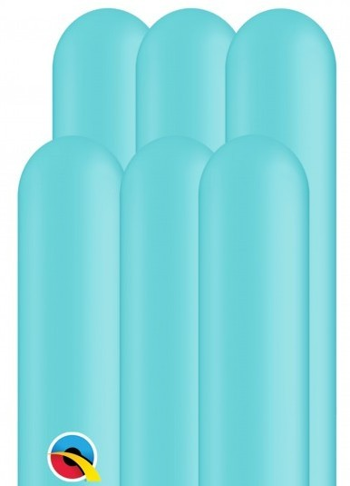 100 modeling balloons 260Q turquoise 1.5m