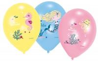 6 Ballons Sei eine Meerjungfrau