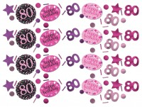 Pink 80th Birthday Streudeko 34g