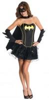 Batgirl Damenkostüm Mit Accessoires Schwarz