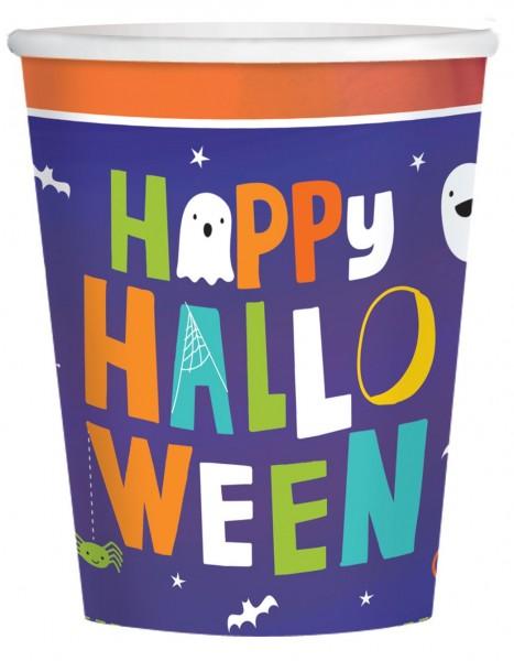 8 tasses Happy Halloween 266 ml