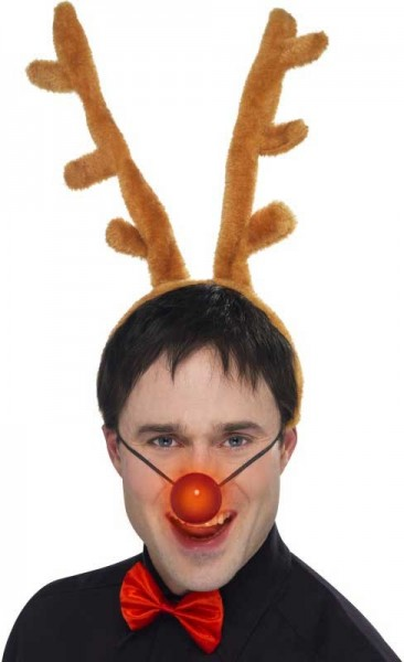 3-piece reindeer set with shining nose