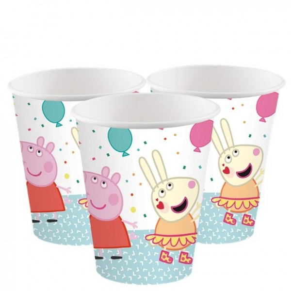 8 Peppa Wutz Pappbecher 250ml
