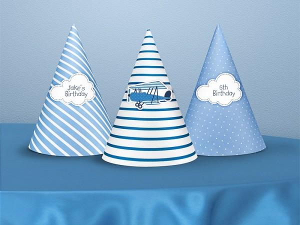 6 cappellini da festa Mix 10cm