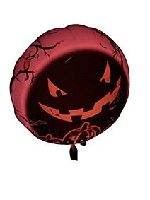 LED foil balloon scary pumpkin