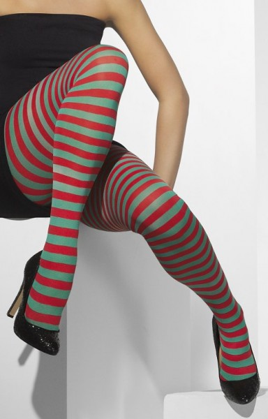 Striped Tights Red Green